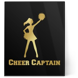 Cheerleader 8x10 Foil Wall Art - Black (Personalized)