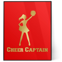 Cheerleader 8x10 Foil Wall Art - Red (Personalized)