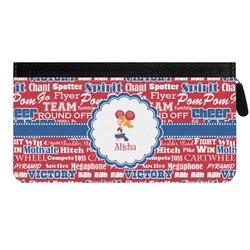 Cheerleader Genuine Leather Ladies Zippered Wallet (Personalized)