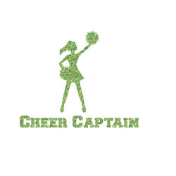 Cheerleader Glitter Iron On Transfer- Custom Sized (Personalized)