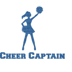 Cheerleader Glitter Sticker Decal - Custom Sized (Personalized)
