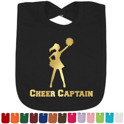Cheerleader Foil Toddler Bibs (Select Foil Color) (Personalized)