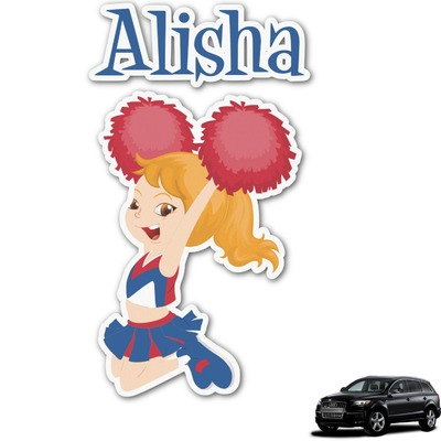 Cheerleader Graphic Car Decal (Personalized)