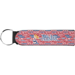Cheerleader Neoprene Keychain Fob (Personalized)