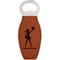 Cheerleader Leatherette Bottle Opener (Personalized)