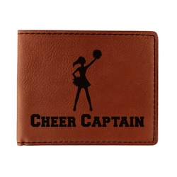 Cheerleader Leatherette Bifold Wallet (Personalized)