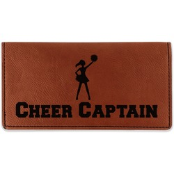 Cheerleader Leatherette Checkbook Holder (Personalized)