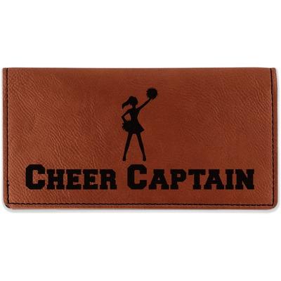 Cheerleader Leatherette Checkbook Holder (Personalized)