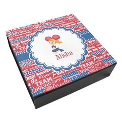 Cheerleader Leatherette Keepsake Box - 3 Sizes (Personalized)