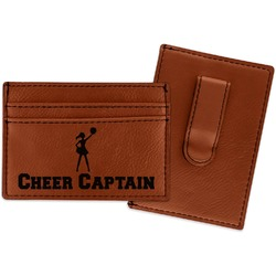 Cheerleader Leatherette Wallet with Money Clip (Personalized)
