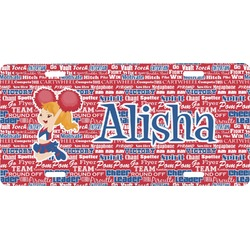 Cheerleader Front License Plate (Personalized)