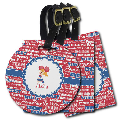 Cheerleader Plastic Luggage Tags (Personalized)