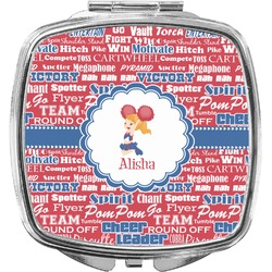 Cheerleader Compact Makeup Mirror (Personalized)