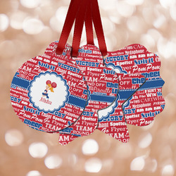 Cheerleader Metal Ornaments - Double Sided w/ Name or Text