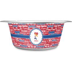 Cheerleader Stainless Steel Pet Bowl - Medium (Personalized)