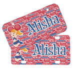 Cheerleader Mini/Bicycle License Plates (Personalized)