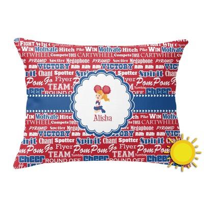 Cheerleader Outdoor Throw Pillow (Rectangular) (Personalized)