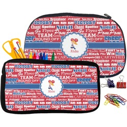 Cheerleader Pencil / School Supplies Bag (Personalized)