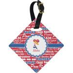 Cheerleader Diamond Luggage Tag (Personalized)