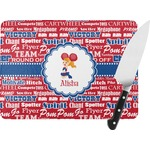 Cheerleader Rectangular Glass Cutting Board (Personalized)