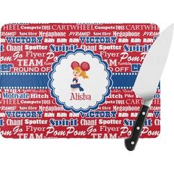 Cheerleader Rectangular Glass Cutting Board (Personalized)