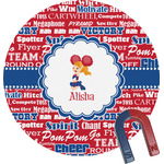 Cheerleader Round Magnet (Personalized)