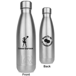 Cheerleader RTIC Bottle - Silver - Engraved Front & Back (Personalized)