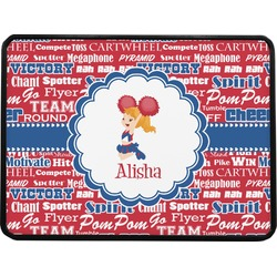 """Cheerleader Rectangular Trailer Hitch Cover - 1.25"""" (Personalized)"""