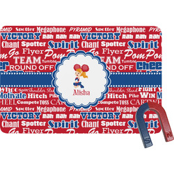 Cheerleader Rectangular Fridge Magnet (Personalized)
