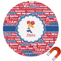 Cheerleader Round Car Magnet (Personalized)