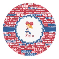 Cheerleader Round Decal (Personalized)