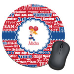 Cheerleader Round Mouse Pad (Personalized)