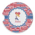 Cheerleader Sandstone Car Coasters (Personalized)
