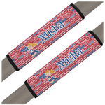 Cheerleader Seat Belt Covers (Set of 2) (Personalized)