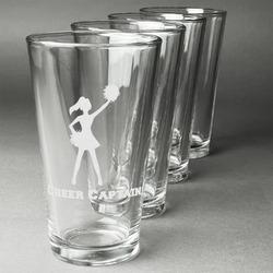 Cheerleader Beer Glasses (Set of 4) (Personalized)