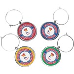 Cheerleader Wine Charms (Set of 4) (Personalized)