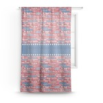 Cheerleader Sheer Curtains (Personalized)