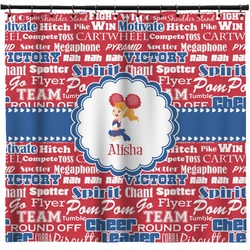 Cheerleader Shower Curtain (Personalized)