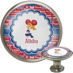 Cheerleader Cabinet Knob (Silver) (Personalized)