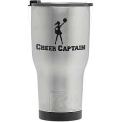 Cheerleader RTIC Tumbler - Silver - Engraved Front (Personalized)