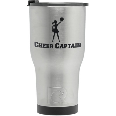 Cheerleader RTIC Tumbler - Silver (Personalized)