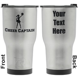 Cheerleader RTIC Tumbler - Silver - Engraved Front & Back (Personalized)