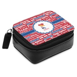 Cheerleader Small Leatherette Travel Pill Case (Personalized)