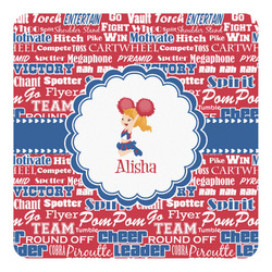 Cheerleader Square Decal - Custom Size (Personalized)