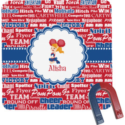 Cheerleader Square Fridge Magnet (Personalized)