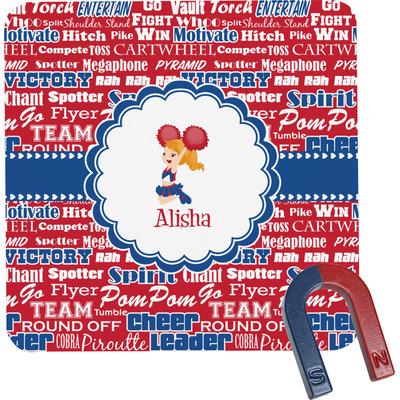 Cheerleader Square Fridge Magnet (Personalized)