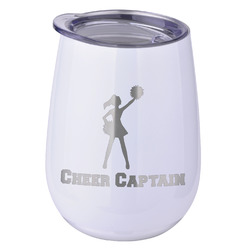 Cheerleader Stemless Wine Tumbler - 5 Color Choices - Stainless Steel  (Personalized)