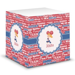 Cheerleader Sticky Note Cube (Personalized)