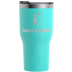 Cheerleader RTIC Tumbler - Teal - Engraved Front (Personalized)