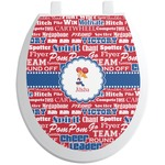 Cheerleader Toilet Seat Decal (Personalized)